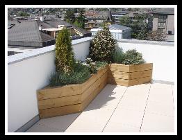 Jardinière et balcon